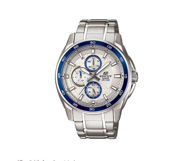 6e0124362526 Casio Edifice EF-334D-7AVUDF Timepieces Series Stainless Steel Band ...